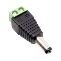 Adaptador Power Jack Macho a Bornera